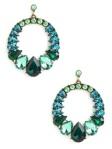 peacock gem earrings