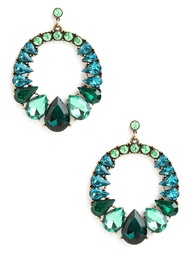 peacock gem earrings